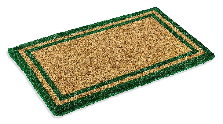Amazon.com : Green Border Coco Coir Doormat - Heavy Duty Doormats ...