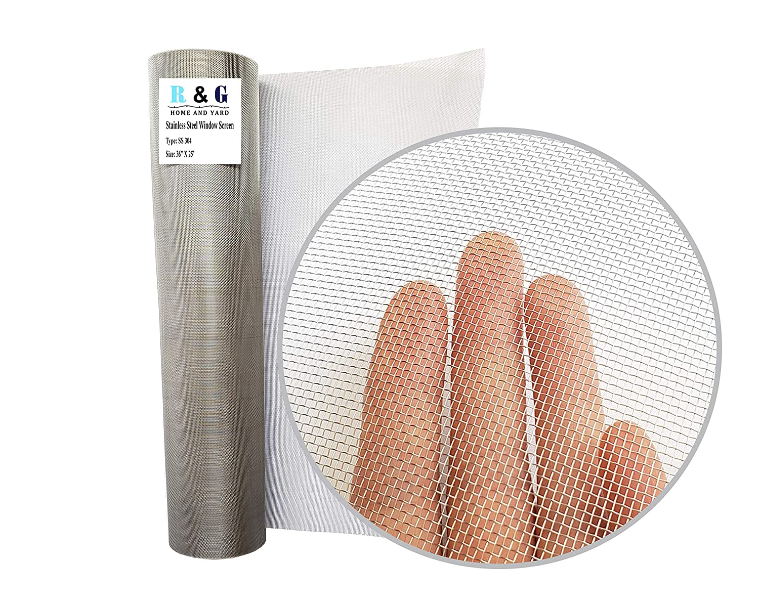 R & G Stainless Steel Insect Screen - 36