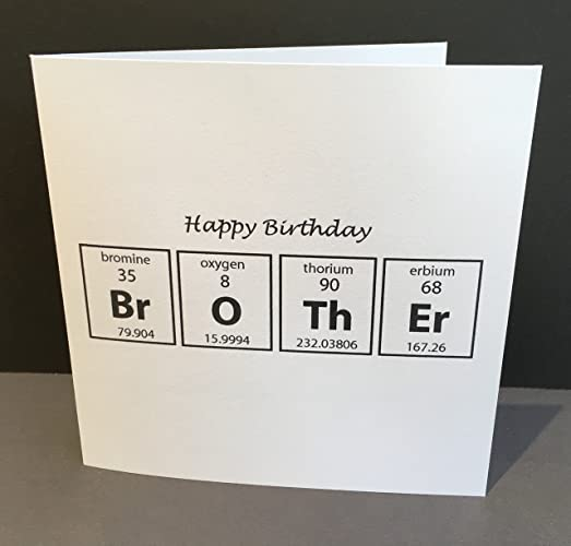 Birthday Card For A Brother