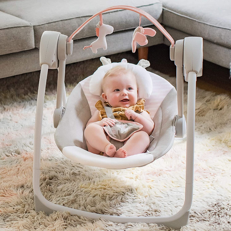 Ingenuity Comfort 2 Go Portable Swing Flora The Unicorn 1.85 kg