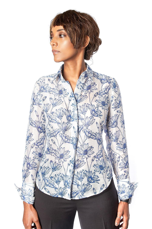 Amazon Farinaz Taghavi Womens Attitude Silk Linen Cotton Blend