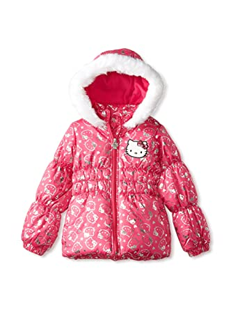 b1f421d06 Amazon.com: Hello Kitty Girl's Puffer Jacket: Clothing