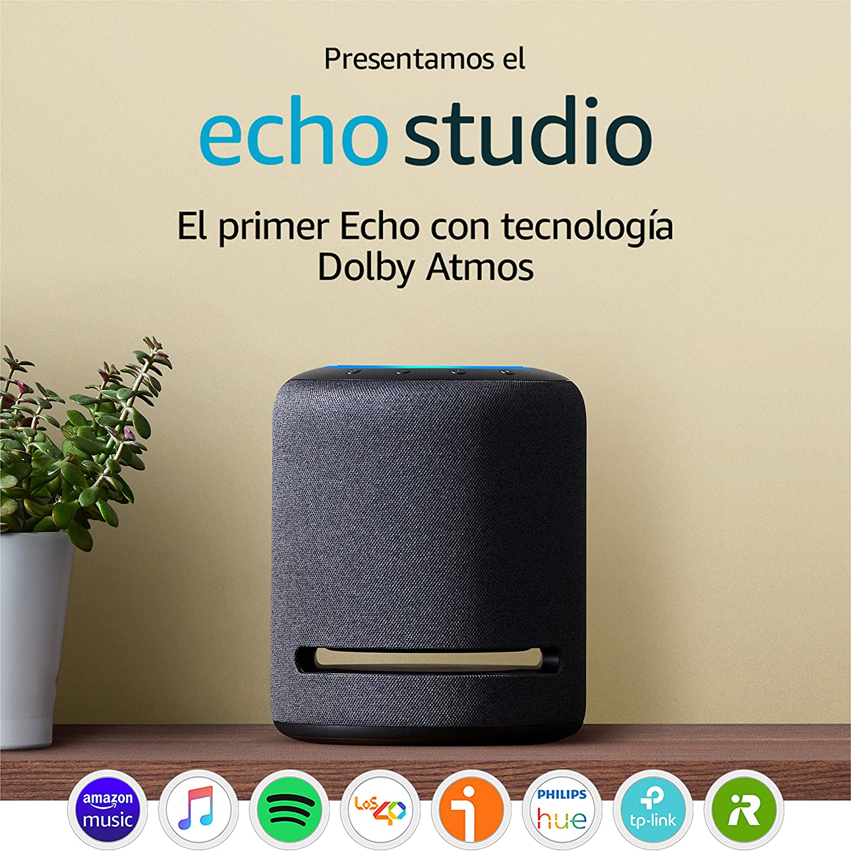 Presentamos el Echo Studio - Altavoz inteligente con sonido de alta fidelidad y Alexa