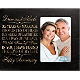 "Personalized 35th Year Wedding Anniversary Gift for Couple 35th Anniversary Gift frame Holds 1 4x6 Photo 8"" H X 10"" W (Black)"