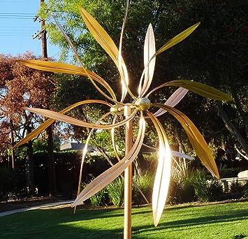 Outdoor Artistic Copper Wind Sculptures: Handmade Large Kinetic Wind ...
