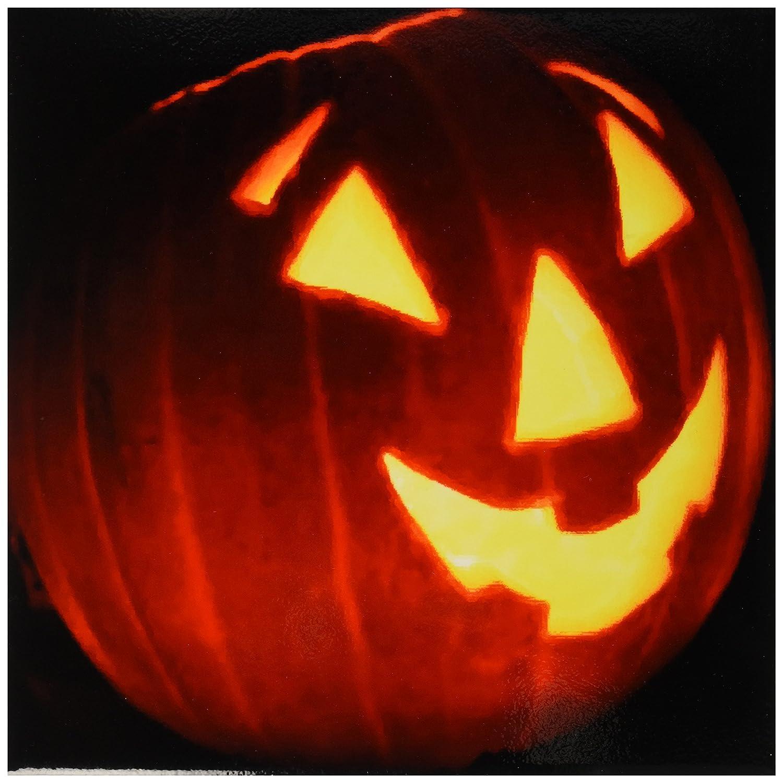 3dRose ct_6024_2 Halloween Jack O Lantern Ceramic Tile, 6-Inch