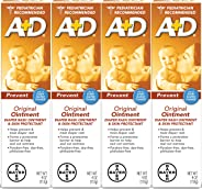 Ungüento para pañales original A+D, 4 onzas (Paquete de 4)