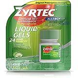 Zyrtec 24 Hour Indoor & Outdoor Allergy Medicine Liquid Gels With Cetirizine, 25 Count