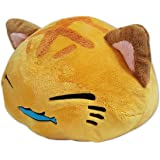 Furyu FR7702A Nemuneko Golden Cat Holding Fish Stuffed Plush, 8""