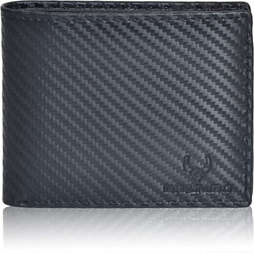 Black Takes 16 Cards RFID Secure Leather Credit Card Holder//Billfold