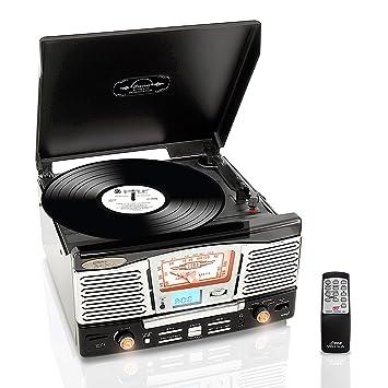 Pyle PTCD8UB Negro, Plata tocadisco: Amazon.es: Electrónica