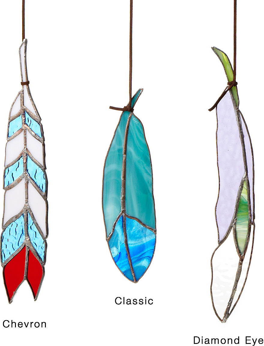 Stained Glass Feathers | Stained Glass Suncatcher | UncommonGoods