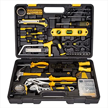 ENTAI 218-Piece Tool Kit for Home General Household Hand Tool Set with Solid ...