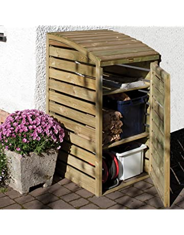 1//2//3 x 240L Wheelie Bin Shed Impregnated Wood Outdoor Container Cover Enclosure