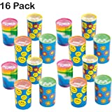 Mini Kaleidoscope Prism Toy 1.75 Inches - Pack Of 16 - Assorted Colors And Designs Mini Prism - For Kids Great Party Favors, Bag Stuffers, Fun, Gift, Prize - By Kidsco