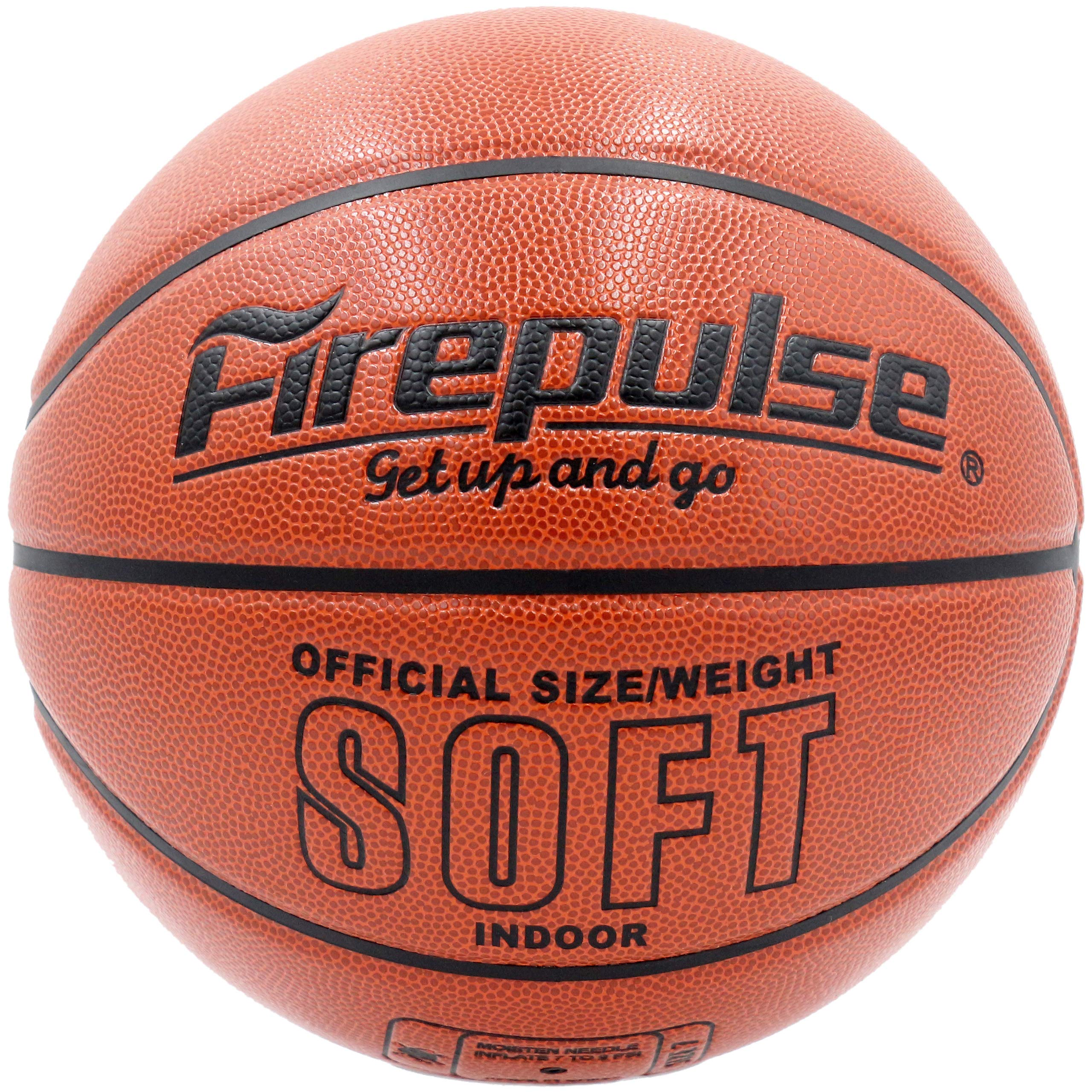 // Indoor Game Basketballs with Free Air Hand Pump,Needles,Basketball Carry Bag 29.5 FIREPULSE Soft Microfiber Composite Basketball//Official Size 7