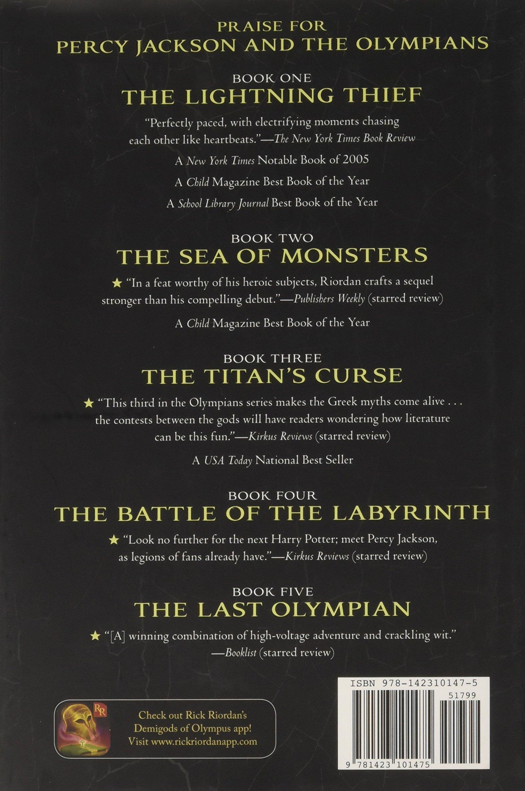 The Last Olympian (percy Jackson And The Olympians, Book 5): Rick Riordan:  9781423101475: Amazon: Books