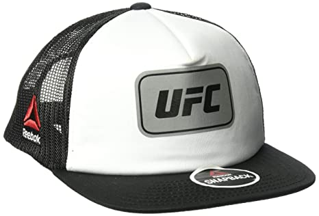 fe687b25837 Image Unavailable. Image not available for. Color  UFC Adult Flat Brim Mesh  Back Hat