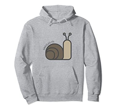 I Snailed It Cool Snail With Sunglasses Design Men's Women's Unisex Sweatshirt Large WBeMJDvh