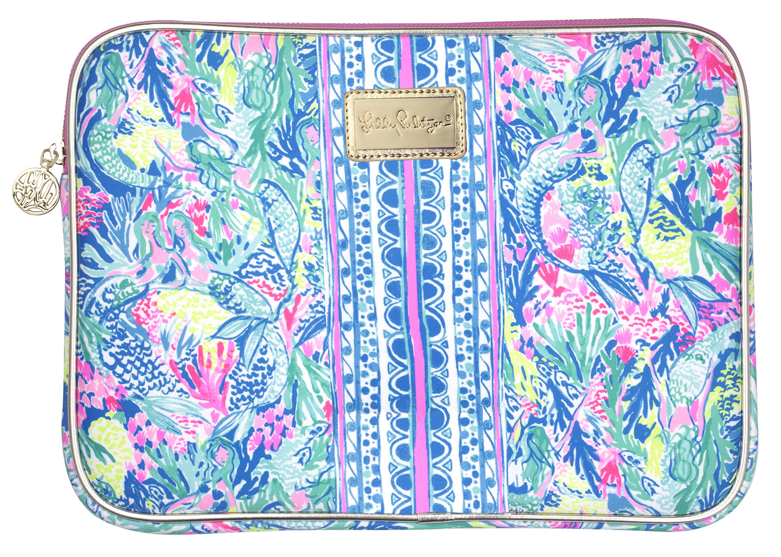 Lilly Pulitzer Tech Sleeve Fits up to 13 inch Laptop (Mermaid Cove) by Lilly Pulitzer