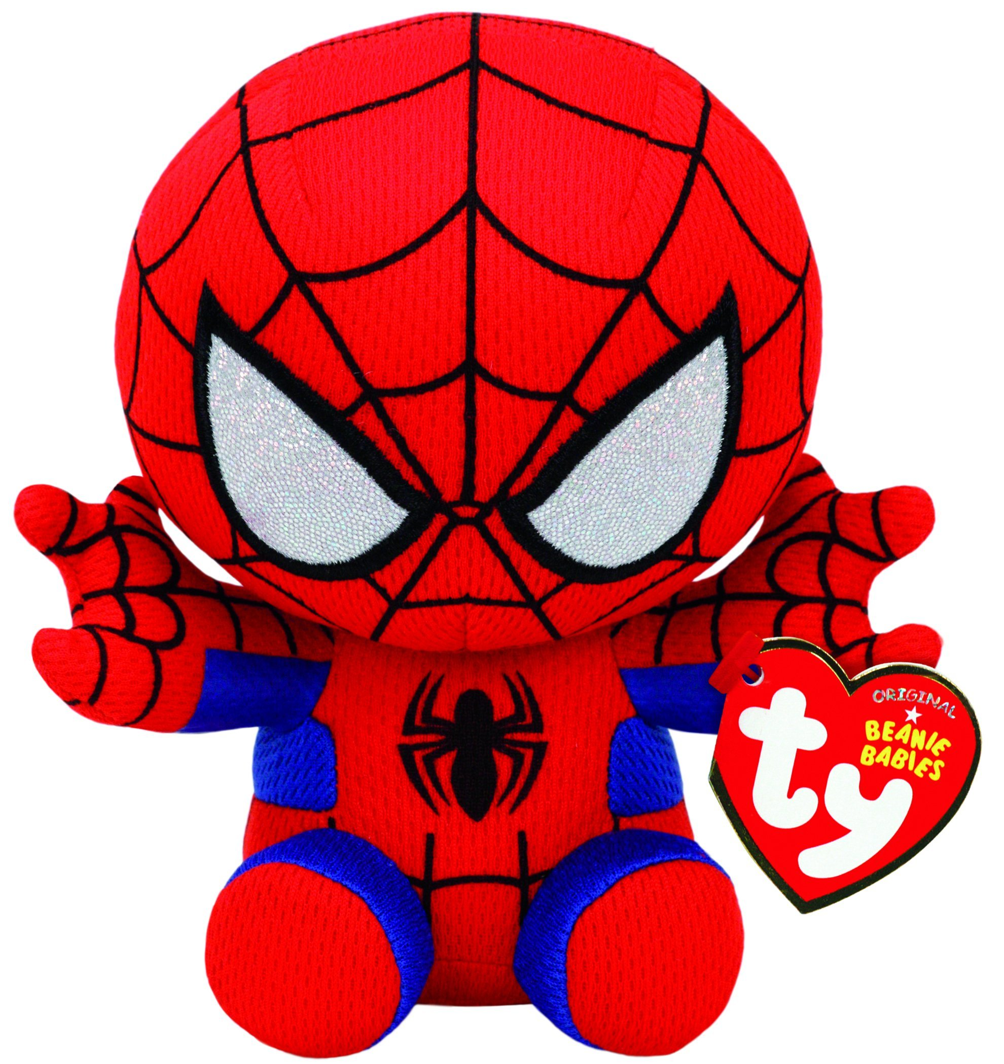 Ty Spiderman Plush, Red/blue, Regular by Ty