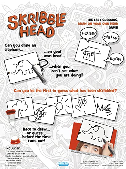 Amazon Com Skribble Head The Fast Guessing Draw On Your Own Head
