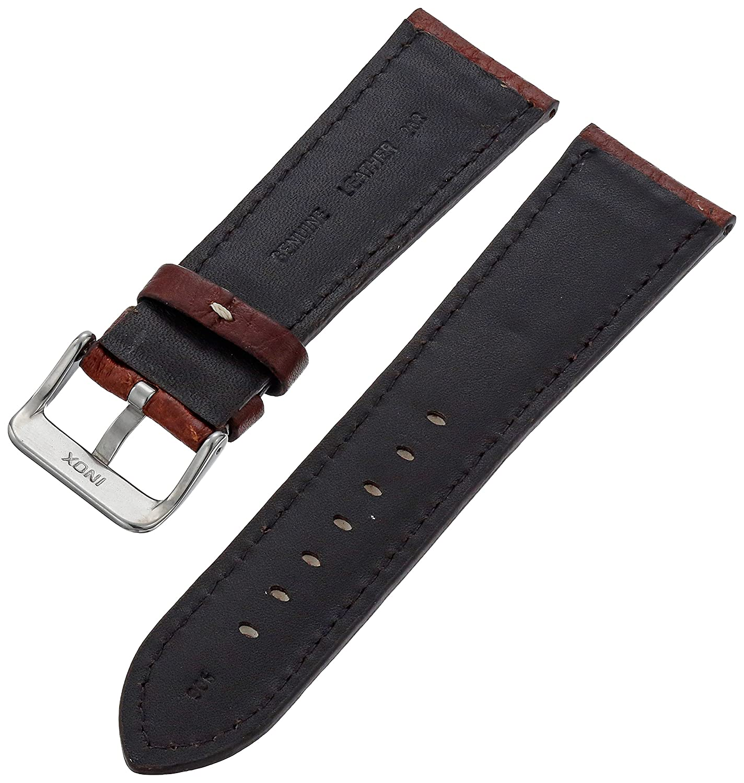 9f363b357fb Hadley-Roma Men s MSM906RA-220 22-mm Black Genuine Leather Watch Strap