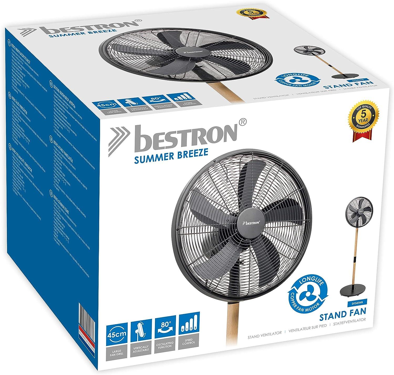 Bestron Ventilateur sur Pied Oscillant, Hauteur : 150 cm, Ø