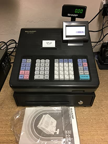 amazon com sharp xe a23s cash register electronics rh amazon com sharp xe-a23s cash register manual sharp xe-a23s cash register manual