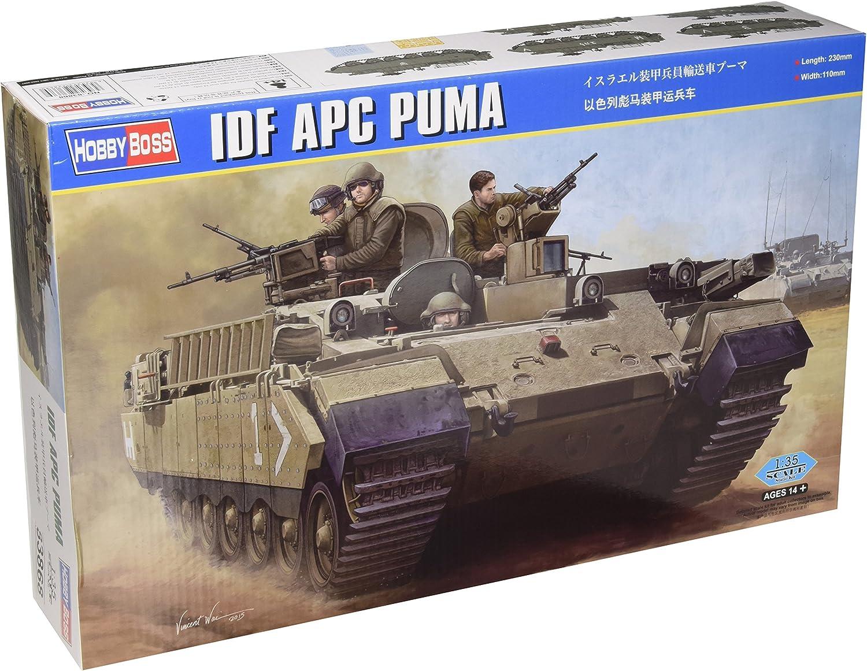 Estrecho facil de manejar Bolsa  Hobbyboss 1:35 Scale IDF APC Puma Model Kit (Grey): Amazon.co.uk: Toys &  Games