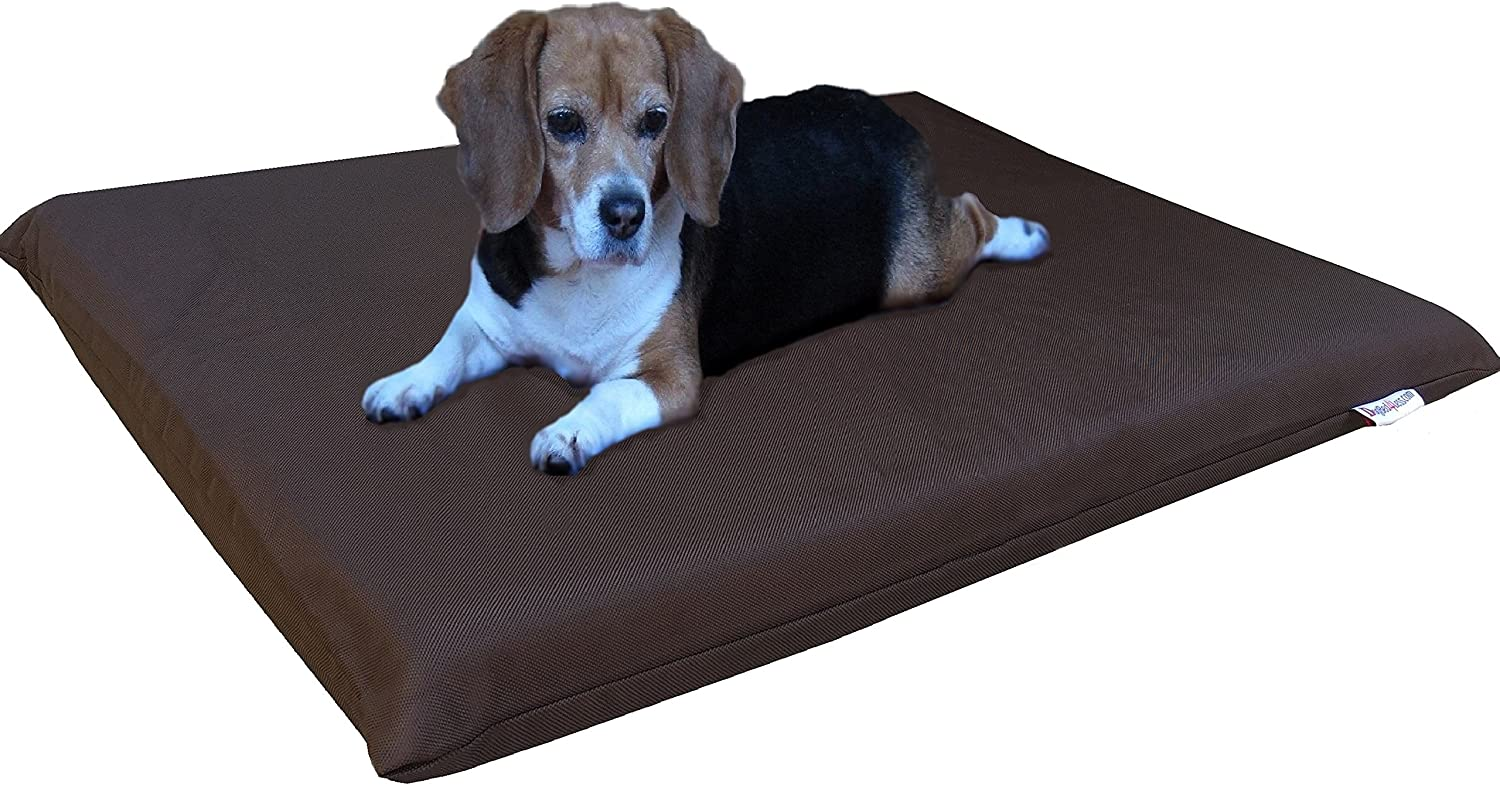 Dogbed4less Gel Memory Foam Dog Bed for Small Medium to Large Pet, Waterproof Liner with Washable Durable External Cover