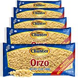 Chuster Orzo Pasta | Bulk Pack of 5 | 100% All Natural Rice-Shaped Noodles for Soups, Salads, Stews & Sides | Cooks to Perfec