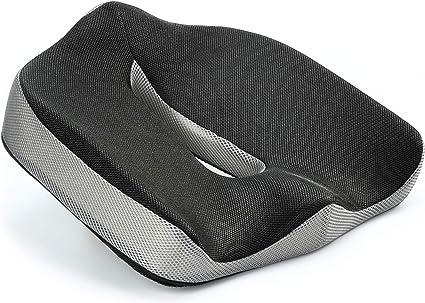 Nero Vitabo Cuscino Ortopedico per alleviare la Pressione sul coccige I ergonomico allevia Il Dolore 45 x 40 cm