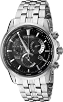 Citizen Eco-Drive Men's 'Perpetual Calendar' Quartz Stainless Steel Casual Watch, Color: Silver-Toned (Model: BL8140-55E)