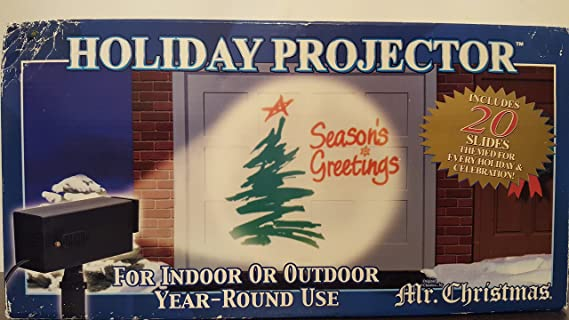 amazoncom mr christmas outdoor holiday projector office products - Christmas Outdoor Projector