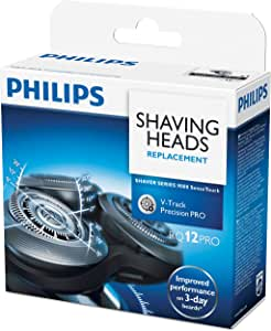 Philips Shaver Series 9000 SensoTouch Shaving Unit with 8-direction Contour Detect Heads and V-Track Precision Blades PRO (Compatible with SensoTouch 3D (RQ12xx), Arcitec (RQ10xx)), Black/Silver, Q12/70