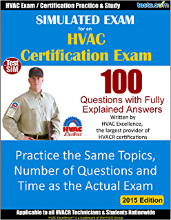 amazon com hvac practice test kit 300 questions with fully rh amazon com HVAC Cheat Sheet hvac excellence study guide pdf