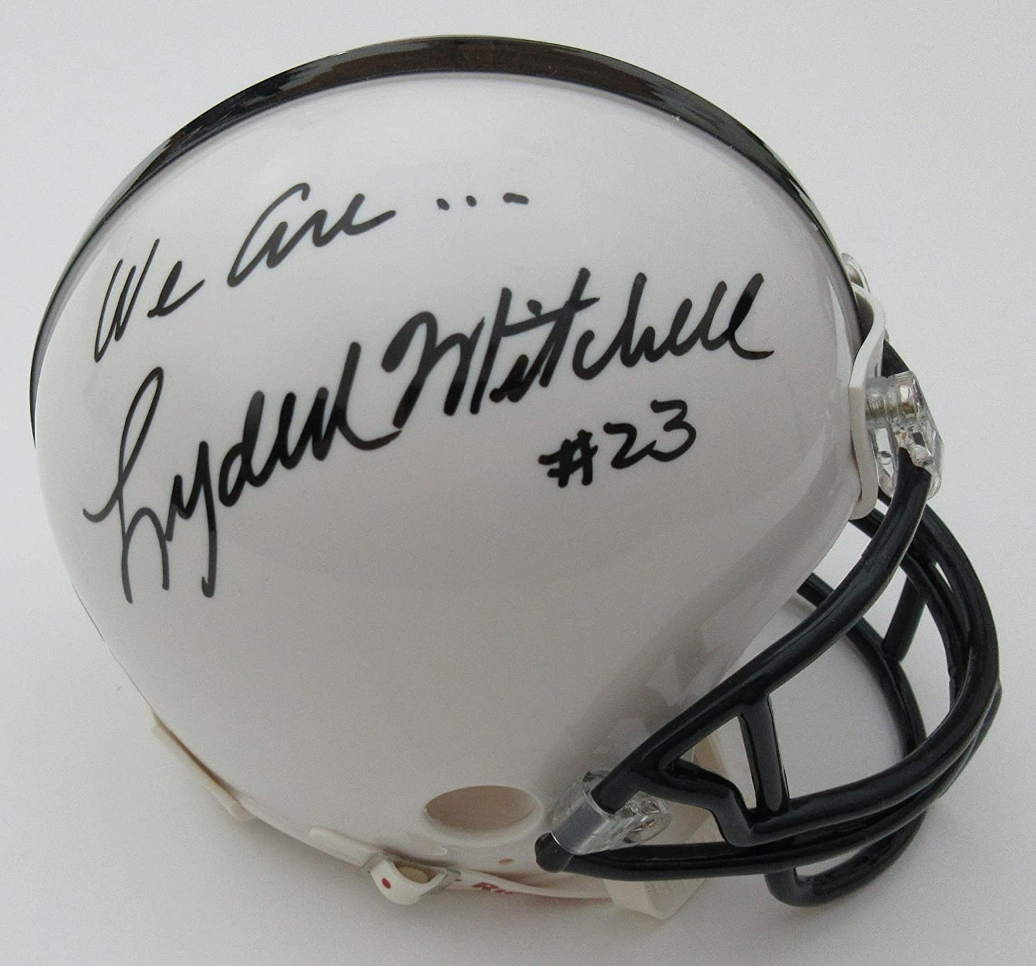 Lydell Mitchell Penn State Autographed inscribed We are Mini Helmet  Autographed College Mini Helmets