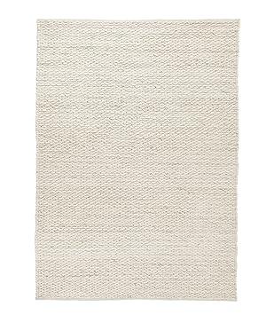 Baumwoll Teppich Gewebt urbanara teppich romo 100 wollfilz baumwoll mischung creme