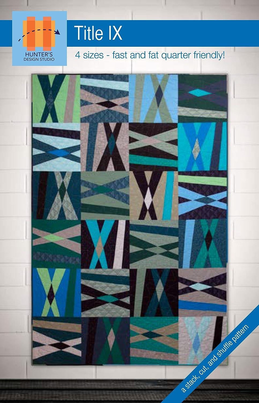 Amazon Com Hunter S Design Studio Title Ix Quilt Pattern Arts Crafts Sewing