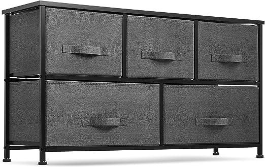 Amazon Com 5 Drawer Dresser Organizer Fabric Storage Chest For