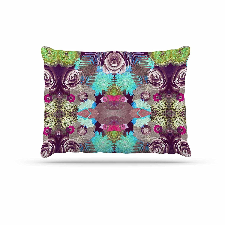 KESS InHouse Vasare NAR Kaleidoscopic Boho Magenta Multicolor Dog Bed, 50  x 40