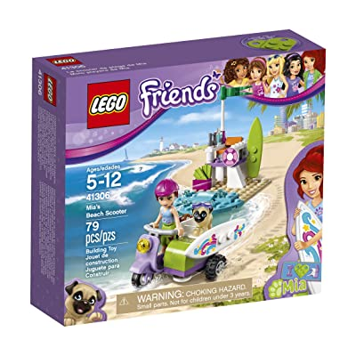 LEGO Friends Mia's Beach Scooter 41306 Building Kit: Toys & Games