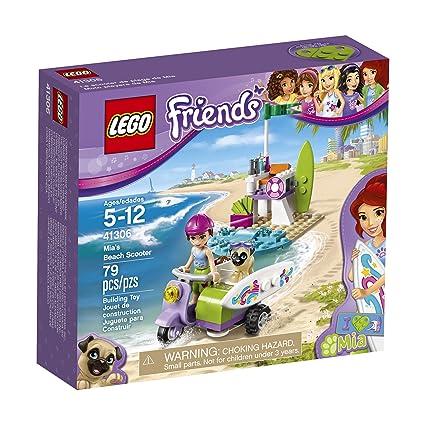 Amazoncom Lego Friends Mias Beach Scooter 41306 Building Kit