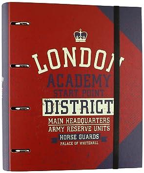 Grupo Erik Editores CBK0027 - Carpeblock con 4 anillas Soy London, 32 x 27.5 cm: Amazon.es: Oficina y papelería