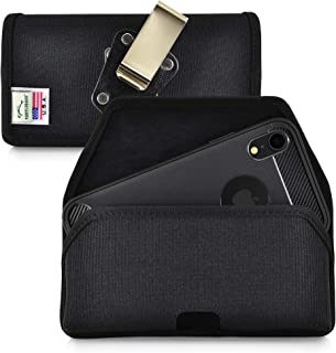 product image for Turtleback Belt Clip Case Designed for iPhone 11 (2019) and iPhone XR (2018) Belt Holster Black Nylon Pouch with Heavy Duty Rotating Belt Clip, Horizontal Made in USA
