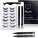 (7 Pairs with Clear and Black Liners) Luxillia by Amazon Magnetic Eyeliner and Eyelashes Kit - 8D Natural Look Eyelash No Mag