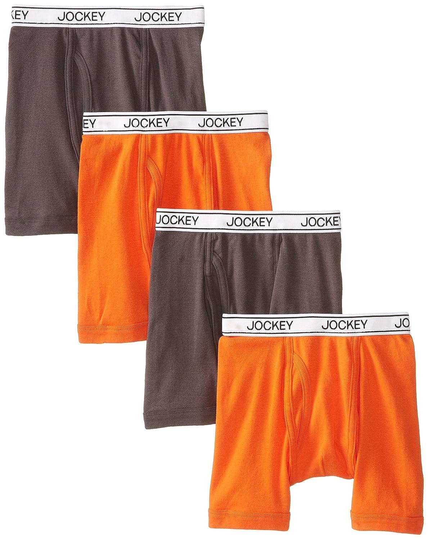 Jockey Big Boys 4 Pack Gracious Gray Orange Boxer Brief Jockey Boys 8-20 06133416A-5