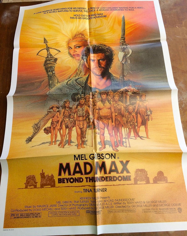 Mad Max Beyond Thunderdome 1985 original movie poster, Mel
