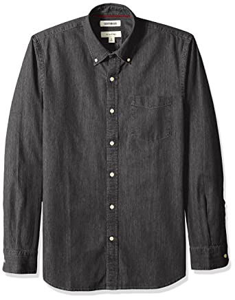 abd6b378f8e Amazon.com  Goodthreads Men s Slim-Fit Long-Sleeve Denim Shirt  Clothing